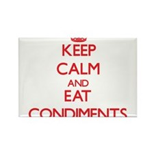 Keep calm and eat Condiments Magnets