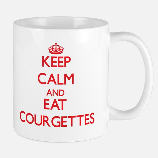 Keep calm and eat Courgettes Mugs