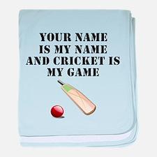 Cricket Is My Game (Custom) baby blanket