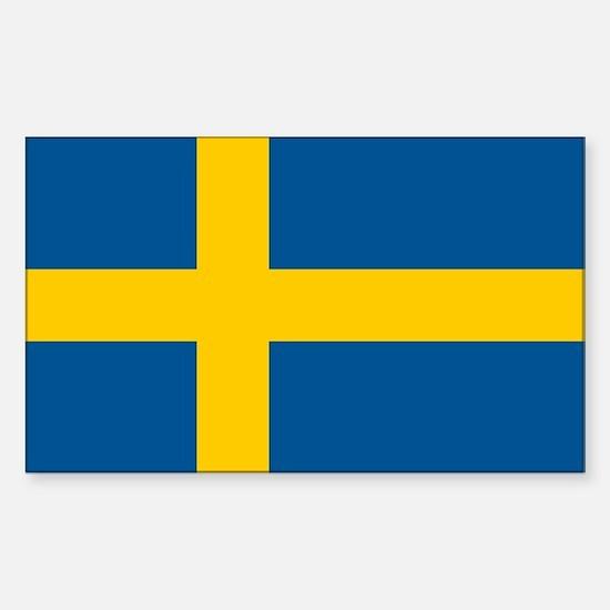 Sweden Flag Sticker (Rectangle)