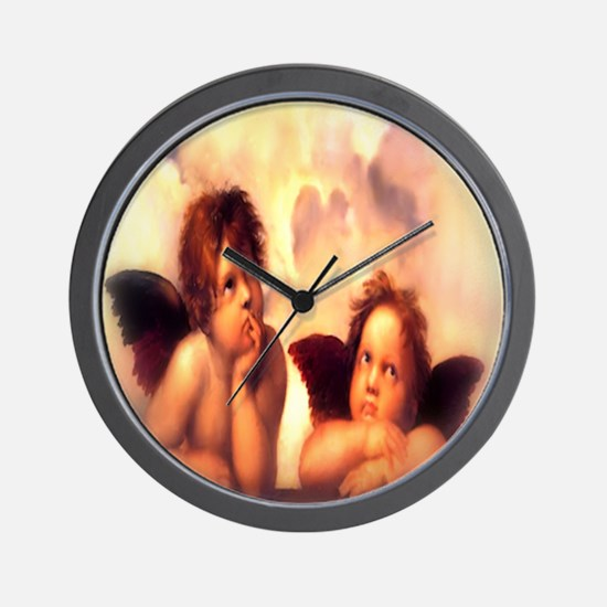 Putti Pair Angels Wall Clock