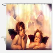 Putti Pair Angels Shower Curtain