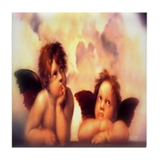 Putti Pair Angels Tile Coaster