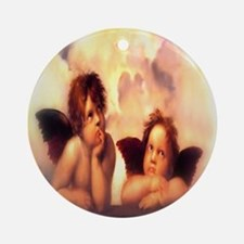 Putti Pair Angels Ornament (Round)