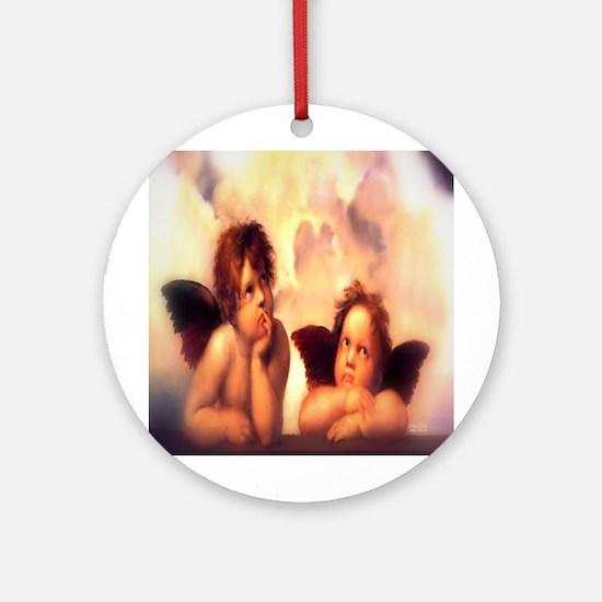 Putti Pair Angels Ornament (Round)