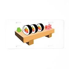 Sushi Japanese Food Aluminum License Plate