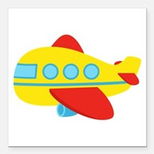 Cute Passenger Aeroplane in bright colours Square