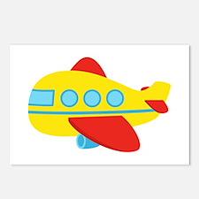 Cute Passenger Aeroplane in bright colours Postcar