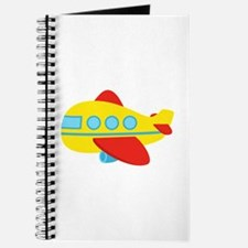 Cute Passenger Aeroplane in bright colours Journal