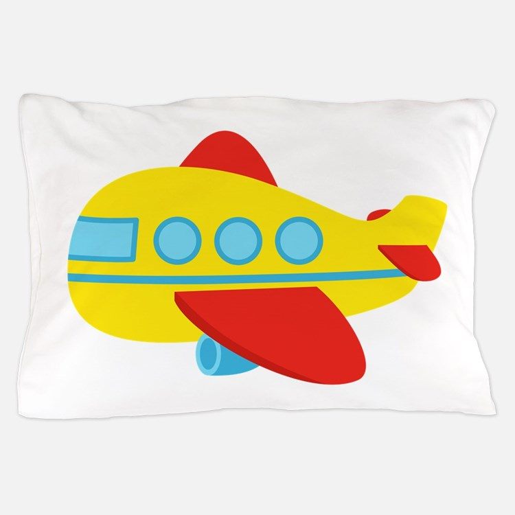 Cute Passenger Aeroplane in bright colours Pillow