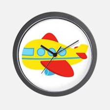 Cute Passenger Aeroplane in bright colours Wall Cl