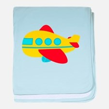 Cute Passenger Aeroplane in bright colours baby bl