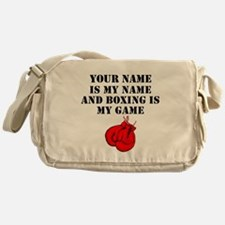 Boxing Is My Game (Custom) Messenger Bag