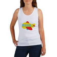 Cute Passenger Aeroplane in bright colours Tank To