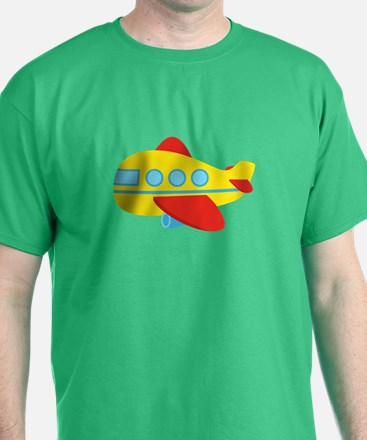 Cute Passenger Aeroplane in bright colours T-Shirt
