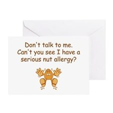 Nut Allergy Greeting Cards
