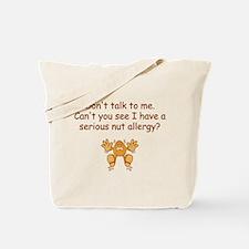 Nut Allergy Tote Bag