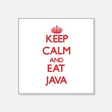 Keep calm and eat Java Sticker