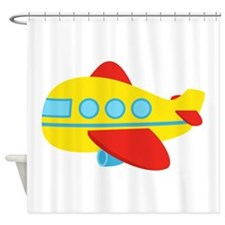 Cute Passenger Aeroplane in bright colours Shower