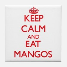 Keep calm and eat Mangos Tile Coaster