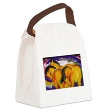 Yellow Horses Canvas Lunch Bag