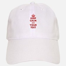 Custom Keep Calm Baseball Baseball Baseball Cap