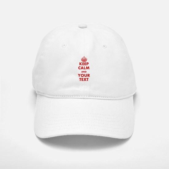 Custom Keep Calm Baseball Baseball Baseball Cap