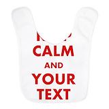 Keep calm Fleece Bibs