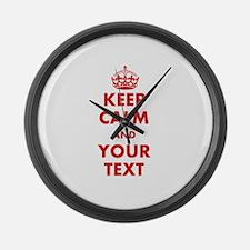 Custom Keep Calm Large Wall Clock