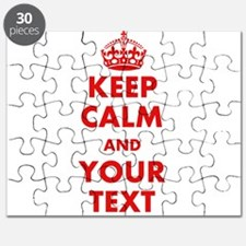 Custom Keep Calm Puzzle