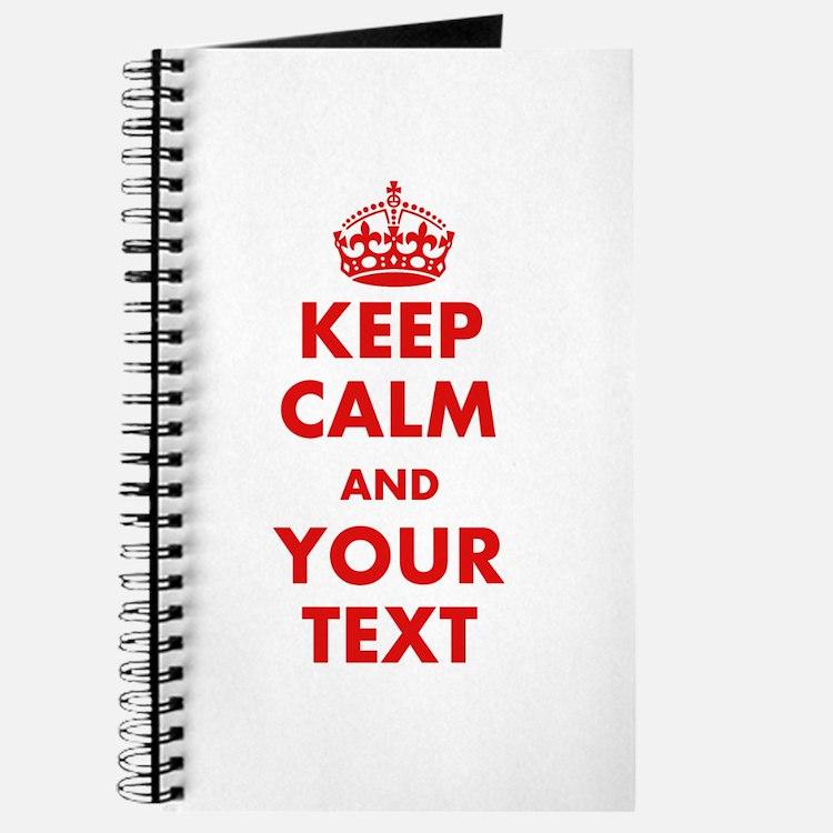 Custom Keep Calm Journal