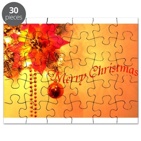 Gold merry-christmas- Puzzle