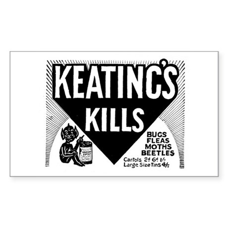 KEATING'S KILLS Sticker (Rect.)