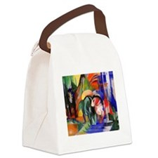 Three Horses Canvas Lunch Bag