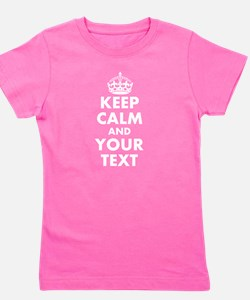 Keep Calm personalize Girl's Tee