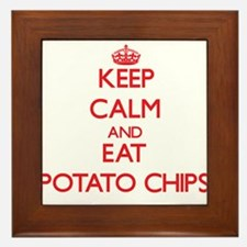Keep calm and eat Potato Chips Framed Tile