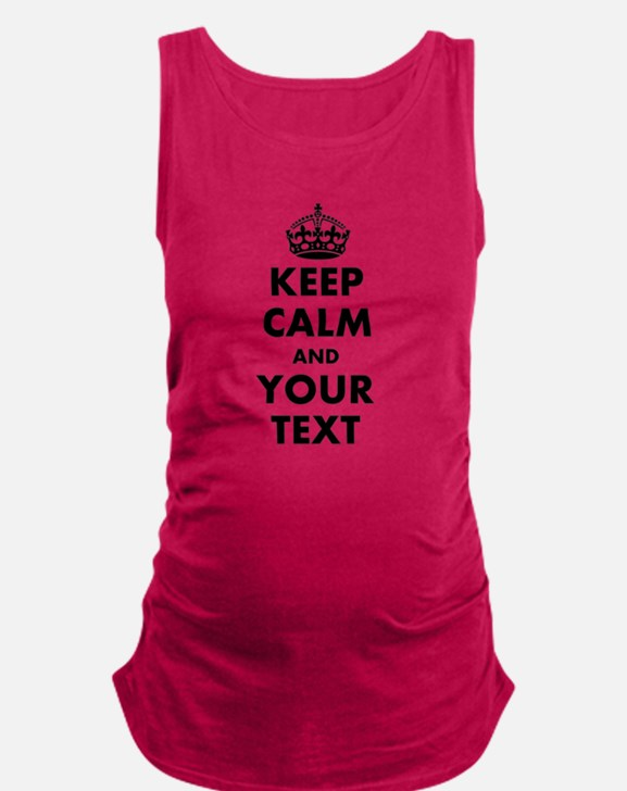 Personalized Keep Calm Maternity Tank Top