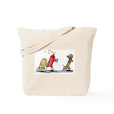 Run Wiener Dog! Tote Bag