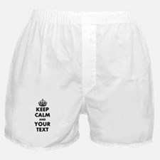 Personalized Keep Calm Boxer Shorts