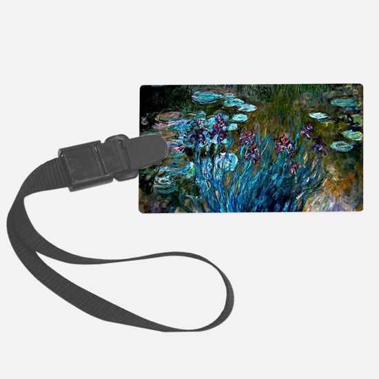 Monet - Irises and Water Lilies Luggage Tag
