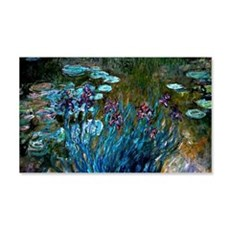 Monet - Irises and Water Lilies Wall Decal