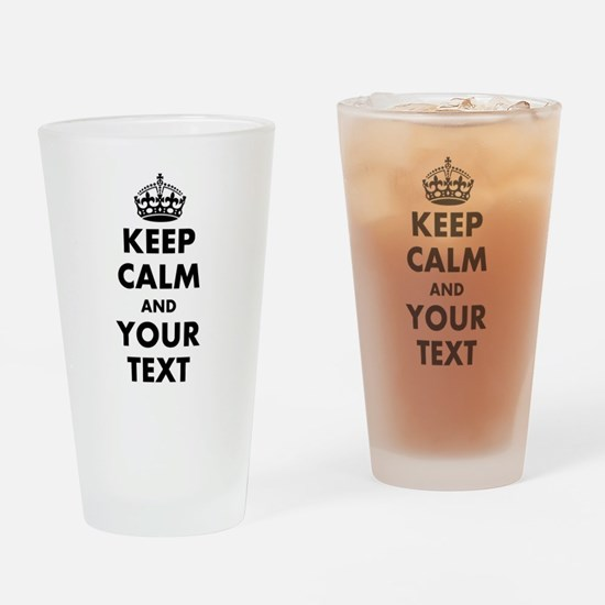 Personalized Keep Calm Drinking Glass