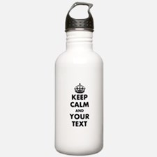 Personalized Keep Calm Water Bottle