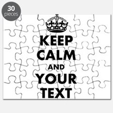 Personalized Keep Calm Puzzle