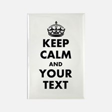 Personalized Keep Calm Template Magnets