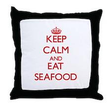 Keep calm and eat Seafood Throw Pillow