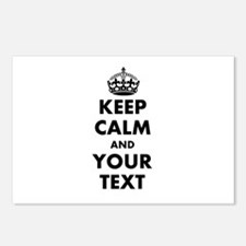Personalized Keep Calm Postcards (Package of 8)