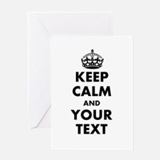 Personalized Keep Calm Greeting Cards
