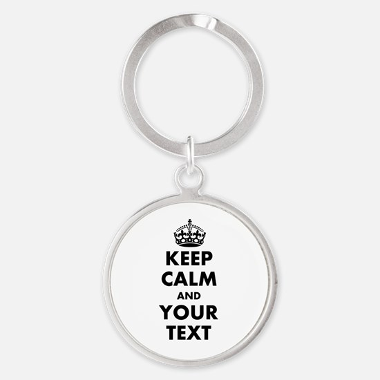 Personalized Keep Calm Keychains