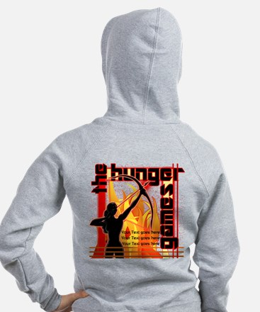 Personalize Girl on Fire Zip Hoodie
